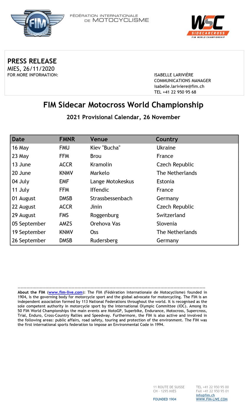 Calendrier Side Car Cross 2022 Calendrier may 2021: Calendrier Side Car Cross 2021